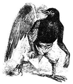 Raffigurazione del demone Malphas nel libro Dictionnaire Infernal