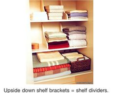 Shelf Dividers. Closet DividersShelf DividersWooden ShelvesWooden ...