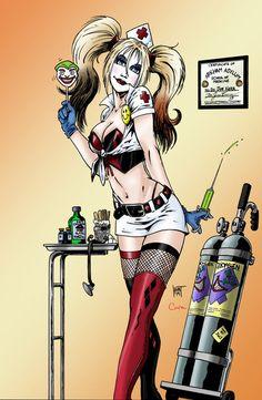 Harley Quinn Nurse Comic Style