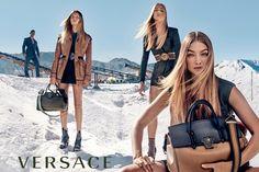 Gigi Hadid,Raquel Zimmermann and Natasha Poly Pose for Versace Spring Summer 2016 Campaign Photoshoot