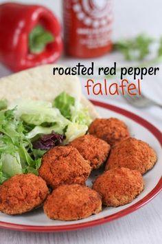 Roasted red pepper falafel