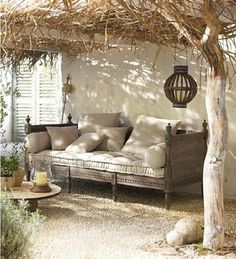 36 Innovative Outdoor Living Room Design Ideas For This Winter - Creating a comfortable outdoor living space is a great idea to expand your families living area. By using outdoor chaise lounge chairs, ottomans and d. Outdoor Rooms, Outdoor Sofa, Outdoor Gardens, Outdoor Living, Outdoor Decor, Rustic Outdoor, Outdoor Seating, Indoor Garden, Indoor Outdoor