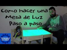 DIY MESA DE LUZ CASERA PARA NIÑOS A PARTIR 18 MESES - YouTube