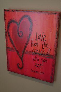 20 Little Ways to Love Your Life & Home - Herz Valentine Crafts, Be My Valentine, Valentines Design, Valentine Ideas, 365 Jar, Love Scriptures, Diy Kit, Scripture Art, Scripture Painting