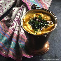 MASTERCHEFMOM: Kadhi Pakoda Kuzhambu | South Indian Style Kadhi R...