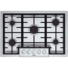Bosch 800 5 Burners Stainless Steel Gas Cooktop (Common: Actual: at Lowe's. Experience the power of this five-burner gas cooktop by Bosch. The stainless steel and black cooktop adds a sleek, modern look to any kitchen and Kitchen Stove, Kitchen Appliances, Bosch Appliances, Smart Kitchen, Kitchen Reno, Kitchen Cabinets, Red Led Lights, Thing 1, Gas Stove