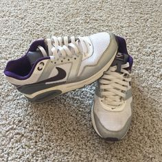 Nike air max Purple, gray and white nike air max navigate Nike Shoes Athletic Shoes