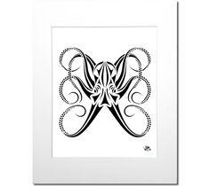 Tribal Octopus Art Print