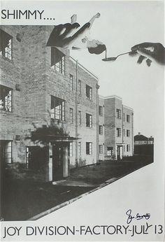 Joy Division – 1979 Factory Manchester Concert Poster