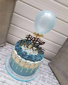 Balloon Cake Topper Confetti Mini Bunting Banner Garland Party Birthday Wedding Hen Baby Engaged Cake One Smash Light Blue Blue Birthday Cakes, Beautiful Birthday Cakes, Beautiful Cakes, 27th Birthday Cake, Cupcake Cakes, Cupcakes, Fathers Day Cake, Balloon Cake, Blue Cakes