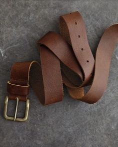 Relaxed Leather Belt $48