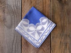 Items similar to Something Blue: Bow Hankie on Etsy Forever Company, Blue Bow, Something Blue, Bows, Trending Outfits, Unique Jewelry, Handmade Gifts, Etsy, Arches
