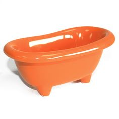 Top quality, Mini Ceramic Baths that will bring a touch of class to any bathroom. Use as a Bath Gift Set. Suitable for storing bathroom accessories. Ideal for presenting a mini bottle of champagne. Storage Tubs, Mini Bottles, Bath Design, Ideal Home, Bathtub, Home And Garden, Orange, Yellow, Terracotta