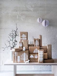 Scandi gift wrapping - CAN YOU REALLY SAY 'NO' to such a cool wrapping project? The best wrapped gifts are always handmade by creative DIY-ers..... just sayin'