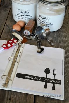 Recipe book with free printables