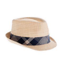 Straw Plaid Trilby Hat by J.Crew..gotta own one of these