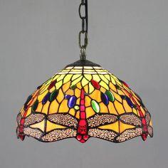 143.00$ Watch here - http://alixcp.worldwells.pw/go. Tiffany Stained GlassDragonfly  PendantPendant LampPendant LightsGlass Pendants