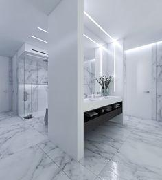 Calacatta, Carrara, Beach Villa, New Construction, Tuscany, Interior Design, Mirror, Bathroom, Furniture