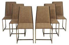Milo Baughman Style Dining Chairs - Set of 6 on Chairish.com
