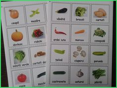 Legumele - Vegetables (Romanian) for more resources follow https://www.pinterest.com/angelajuvic/autism-special-education-resources-angie-s-tpt-sto/