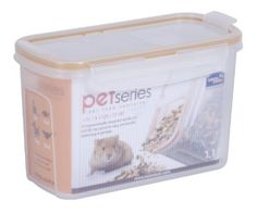 Lock & Lock 4.6-Cup Pet Dispenser Storage Box by Heritage Mint. $7.57. Airtight and watertight. 4-hinge locking system. Ergonomic hinges with easy-pour spouts. Odor, stain and scratch resistant. Protects from pests and contaminants. At a Glance...  Convenient food-storage containers Airtight and watertight Made of high-quality BPA-free plastic Food-safe and hygienic 4-sided locking system with silicone seal Durable construction Stackable and nestable for space-saving s...