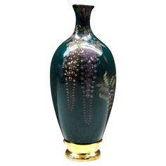 """Japanese Antique Miniature Cloisonne  Wisteria Vase Back on track with our A-Z review of Japanese porcelain and potteries in the store, Finally made it past the A's and B's!  We have added items from other countries in this """"C"""" category- Cloisonne.  We do have more cloisonne items in our old stock, not yet posted."""