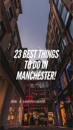 23 Best things to do in Manchester! Manchester Cathedral, Manchester Town Hall, Visit Manchester, Manchester Police, Manchester Art, Stuff To Do, Things To Do, Good Things, Bridgewater Canal