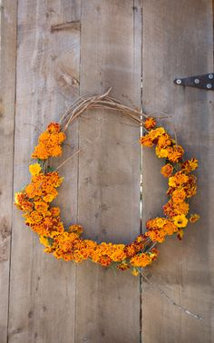 marigold wreath.