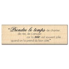 Tampon bois JOLIE VIE Tampon Scrapbooking, French Quotes, Tampons, Plexus Products, Deco, Beautiful Words, Affirmations, Stamp, Messages