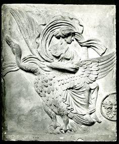 Terracotta Campana relief: Aphrodite on a goose. Culture/period Roman. Date 50BC-100.