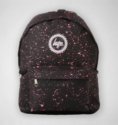 Hype Speckle Backpack Black-Pink Speckle
