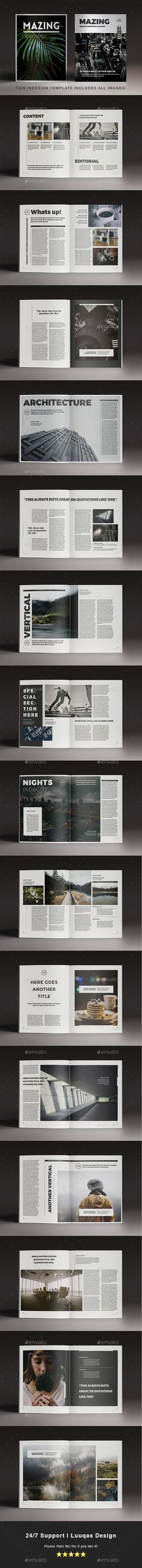 Mazing Magazine Template — InDesign INDD #colorful #fashion folio • Download ➝ https://graphicriver.net/item/mazing-magazine-template/18942015?ref=pxcr