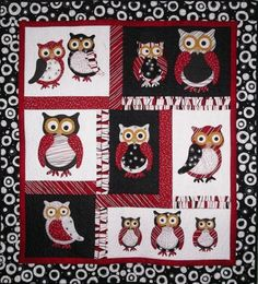 owls in tree...I'd like to use this idea to make a mini-quilt wall ... : owl pattern quilt - Adamdwight.com