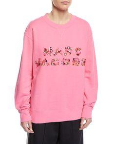 Marc Jacobs Embellished-Logo Crewneck Sweatshirt