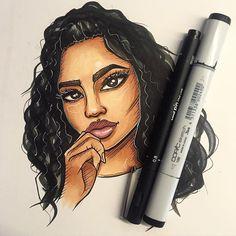 Little sketch of @melissacalma  #ink #instaart #illustrator #illustration #art #arty #copic #copicart #copicmarkers #portrait #sketch #sketching #sketchbook #girl #girlsinanimation #markers by shanchansen