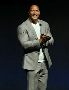 Dwayne Johnson -- I love a man in a suit