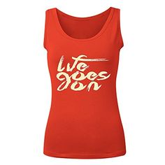 Printed Life Quotes Womens Vest Red *** You can get additional details at the image link.