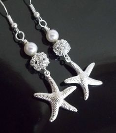 ~CATALINA RHINESTONE~            Perfect for a summer wedding, beach wedding, or nautical theme.   Earrings that you or your bridesmaids will cherish, and be able to wear over and over.   Super lightw