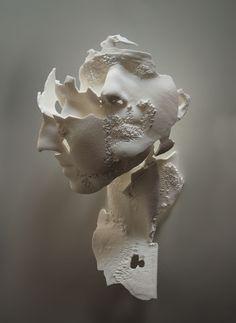 New piece: triple portrait of Evie. Laser-sintered nylon, life-size, 2013.