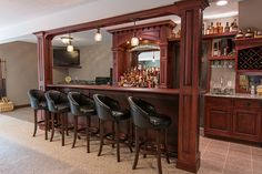 We took this customer's vision of their own custom bar and turned it into a reality. Now they have the perfect place for game day! Bar Areas, Perfect Place, Liquor Cabinet, Photo And Video, Game, Storage, Places, Furniture, Instagram