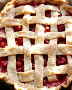 cherry pie - my mother showed my friend Pam how to make this and she still has the recipe today(Mrs. Elias' Cherry Pie)