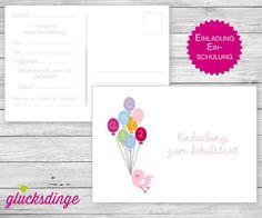 6 x Einladung zum ♥ SCHULANFANG ♥ ABC-Ente von j-designerie - FEINE DRUCKSACHEN auf DaWanda.com