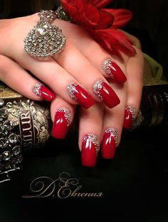 Red Gel Nails, Red Nail Art, Red Acrylic Nails, Pretty Nail Art, Acrylic Nail Designs, Zebra Nails, Elegant Nail Designs, Elegant Nails, Stylish Nails