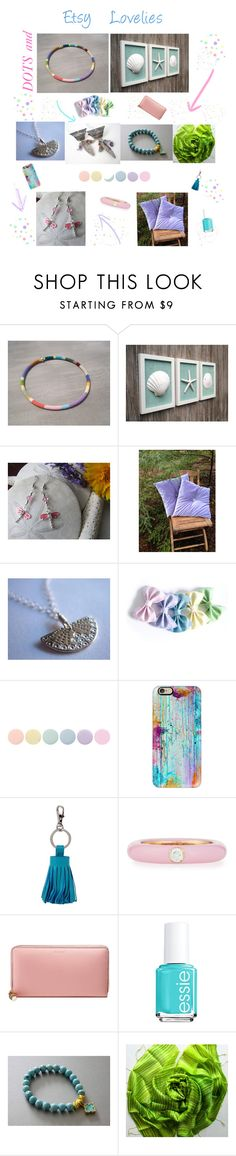 """DOTS and Etsy Lovelies"" by ameliabathandbody ❤ liked on Polyvore featuring Zara Taylor, Deborah Lippmann, Casetify, ILI, Adolfo Courrier, Gucci, Essie, Home, jewelry and gifts"