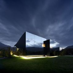The Mirror Houses: Project: The Mirror Houses Architect: Peter Pichler Architecture Project location: South-Tyrol, Italy Project date: 2014  This pair of holiday homes is set in the spectacular surroundings of the South Tyrolean Dolomites, amidst a beautiful scenery of appletrees, just outside the city of Bolazno.  The house is made of volumes that open towards east with a big glass facade that fades with curvilinear lines into the black aluminium shell. Mirrored glass on the west facade…