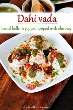 Dahi vada are deep fried lentil balls dunked in yogurt, topped with different kinds of chutneys and then garnished with spice powders. Dahi vada is one of the classic North Indian chaat snacks that is sold as a street food across India. Dahi literally translates to curd or yogurt and Vada are deep fried lentil balls. There are many versions and variations of this snack known with different names across India - Dahi bhalla, Thayir vadai, perugu vada and mosaru vade are some of the most known…