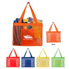 Sheer Striped Tote Bag Summers around the corner! Loving fun colored beach totes for gift with purchases and appreciation gifts Custom Reusable Bags, Beach Supplies, Promotional Bags, Employee Gifts, Clothing Logo, Beach Tote Bags, Corporate Gifts, Stuff To Buy, Beach Totes