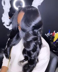 Baddie Hairstyles, Weave Hairstyles, Pretty Hairstyles, Love Hair, Gorgeous Hair, Curly Hair Styles, Natural Hair Styles, Hair Laid, Hair Looks