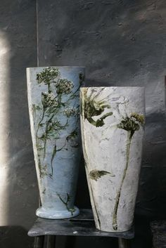 More of CLAIRE BASLER's beautiful hand-painted pottery