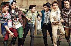 Xiumin, D.O, Suho, Lay, Baekhyun and Sehun